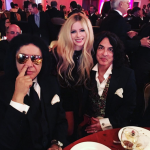 Paul Stanley and Gene Simmons of Kiss were also at the table with the couple. (Photo: Instagram, @avrillavigne)