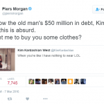 Piers Morgan also chimed in with a witty remark about Kim's nude selfie. (Photo: Twitter, @piersmorgan)