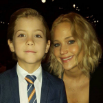 Mingling with Joy star Jennifer Lawrence at an Academy Awards lunch. (Photo: Instagram, @jacobtremblay)