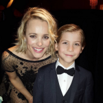Sharing some Canadian love with Spotlight star Rachel McAdams at the SAG Awards. (Photo: Instagram, @jacobtremblay)
