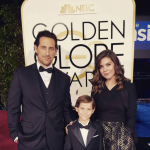 Is it any surprise that Jacob Tremblay's gorgeous parents look right at home on the Golden Globes red carpet? (Photo: Instagram, @jacobtremblay)