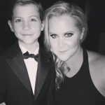 About to crack up with funny girl Amy Schumer at the Governors Awards. (Photo: Instagram, @jacobtremblay)