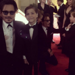 Jacob met his favorite actor, Johnny Depp, at the Governors Awards. (Photo: Instagram, @jacobtremblay)