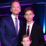 "Jacob meeting up with his ""first movie dad"" Neil Patrick Harris with whom he starred in The Smurfs 2. (Photo: Instagram, @jacobtremblay)"