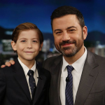 Doing the rounds on the late night circuit with Jimmy Kimmel. (Photo: Instagram, @jacobtremblay)