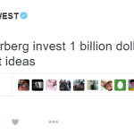 8. After revealing his $53 million debt, Kanye started looking for new investors. (Photo: Twitter, @kanyewest)