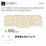 The National Academy of Recording Arts and Sciences of the United States. (Photo: Twitter, @TheGRAMMYs)