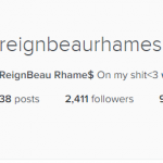 Reign Beau Rhames – Creatively thought up by Ving Rhames and Deborah Reed. (Photo: Instagram, @ReignBeau Rhame$)