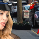 "Madonna has been caught putting up fake ""no parking"" signs in New York City. (Photo: Twitter, @TMZ)"