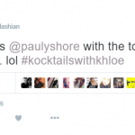 The reality TV star was questioned on the subject by comedian Pauly Shore. (Photo: Twitter, @khloekardashian)