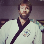 "Chuck Norris – The legendary internet meme and actor has not appeared in a screen role since 2005's ""The Expendables 2."" (Photo: Instagram, @lindymink)"