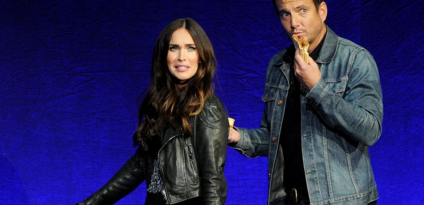 Megan Fox showed up to CinemaCon flaunting a cute baby bump. (Photo: Instagram, @okmagazine)