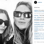 The Olsen twins joined Instagram for a day and shared their first-ever public selfie. (Photo: Instagram, @sephora)