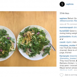 They took to it immediately and did what every Instagrammer does – post food pics. (Photo: Instagram, @sephora)