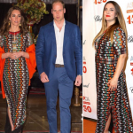 Duchess Kate accompanied Prince William to a dinner party with the King and Queen of Bhutan. (Photo: Instagram, @newideamagazine)
