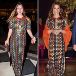 Drew Barrymore and Duchess Catherine wore the exact same dress on the same night. (Photo: Instagram, @itgirlstagram)