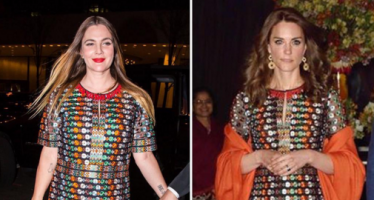 Same dress for Drew Barrymore and Duchess Kate