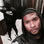 The singer claimed to have been testing the water proof abilities of his cell phone. (Photo: Instagram, @usher)