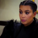 Kim Kardashian sat stunned to silence by the shade her mom just threw at her. (Photo: Instagram, @norisblackbook)