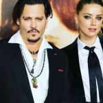 It has been claimed that Amber Heard once had to hide from Johnny Depp in an aeroplane bathroom. (Photo: Instagram, @johnnyamber_italy)