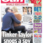 Taylor Swift and Tom Hiddleston have been caught making out on a beach in Rhode Island. (Photo: Twitter, @TheSun)