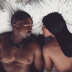 The rapper's latest video features various celebrity lookalikes in bed with him and wife Kim Kardashian. (Photo: Instagram, @kanyewest_daily)