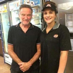 This picture of Robin Williams and a fan was taken mere days before he sadly committed suicide.