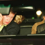 Princess Diana can be seen here in the back of the car before she died in the ensuing crash in an attempt to outrun the paparazzi. (Photo: Archive)