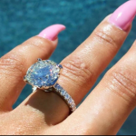 The couple got engaged in April after only a few months of dating. (Photo: Instagram, @blacchyna)