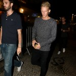 Cody Simpson on his way out for dinner in the city. (Photo: AgNews)