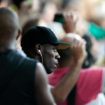 Jamaican sprinter Usain Bolt was at the Maracanã stadium to cheer on the Brazilian team against Germany. (Photo: AgNews)