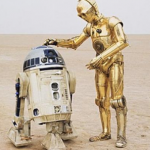Kenny Baker and Anthony Daniels in Star Wars. (Photo: Archive)