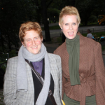 Christine Marinoni and Cynthia Nixon. (Photo: Archive)