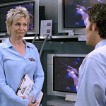 Paula, played by Jane Lynch in The 40-Year-Old Virgin. (Photo: Archive)