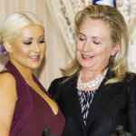 Christina Aguilera and Hillary Clinton. (Photo: Archive)