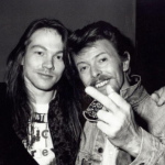 Axl Rose and David Bowie. (Photo: Archive)