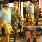 Leonardo and Nina Agdal are reportedly fine after being involved in a minor car accident. (Photo: Instagram, @_hollywoodia)