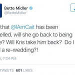 Bette Midler posted this transphobic tweet about Caitlyn Jenner on Saturday. (Photo: Twitter, @BetteMidler)