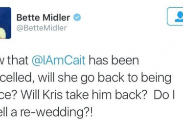 Bette Midler 'sorry' over Caitlyn Jenner tweet