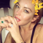 Lindsay Lohan on Monday posted this Instagram pic and she is still wearing her engagement ring! (Photo: Instagram, @lindsaylohan)