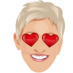 The 58-year-old Ellen's emojis are considerably more clean-cut, though. (Photo: Instagram, @ellenshow)