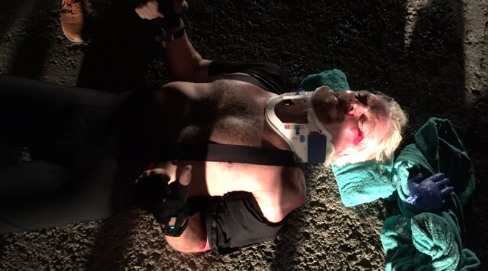 Richard Branson lives to tell of how he almost died in a serious bicycle crash. (Photo: Twitter, @richardbranson)