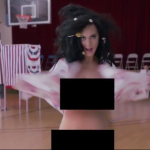 The pop star appeared naked in a funny clip encouraging US citizens to register to vote. (Photo: Twitter, @katyperry)