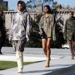 The rapper showed off his new Yeezy Season 4 collection for Adidas on Roosevelt Island in New York City. (Photo: Instagram, @kwreport)