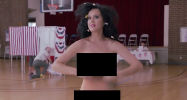 Katy Perry gets naked for Hillary Clinton