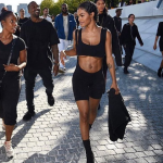 Models including Chanel Iman, Sophia Richie and Teyana Taylor were seen sweating and desperately drinking from water bottles they were given. (Photo: Instagram, @annalove_x)