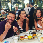 """The 35-year-old model described Seacrest as """"handsome"""" and """"charismatic"""" in photos she posted. (Photo: Instagram, @adrianalima)"""