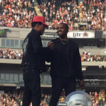 "The 39-year-old performed the track ""Famous"" three times! (Photo: Instagram, @kanyewest_daily)"
