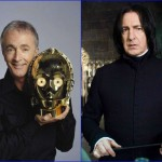 Anthony Daniels & Alan Rickman - February 21, 1946. (Photo: Archive)