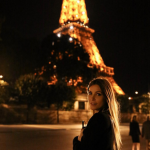 Hefner's wife Crystal Harris posted some pictures of herself in France on the same day, though. (Photo: Instagram, @crystalhefner)